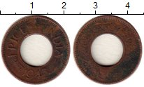 Изображение Монеты Индия 1 пайс 1943 Бронза VF