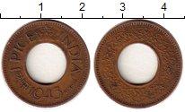 Изображение Монеты Азия Индия 1 пайс 1943 Бронза VF