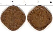 Изображение Монеты Азия Индия 1/2 анны 1942 Латунь