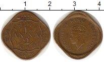 Изображение Монеты Индия 1/2 анны 1943 Латунь  Георг VI
