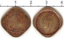 Изображение Монеты Индия 1/2 анны 1944 Латунь