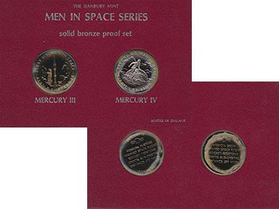 Изображение Подарочные монеты Великобритания Человек в Космосе 0 Бронза Proof-