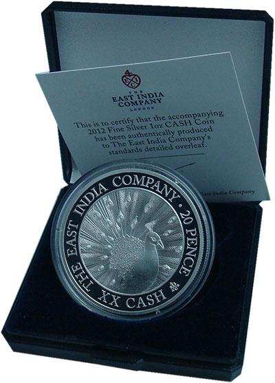 Изображение Подарочные монеты Великобритания Остров Святой Елены 20 пенсов 2012 Серебро Proof