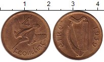 Изображение Монеты Ирландия 1/4 пенни 1939 Бронза XF
