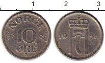 Изображение Монеты Европа Норвегия 10 эре 1956 Медно-никель XF