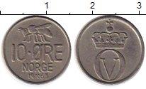 Изображение Монеты Норвегия 10 эре 1963 Медно-никель XF