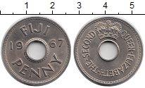 Изображение Монеты Фиджи 1 пенни 1967 Медно-никель UNC-