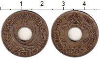 Изображение Монеты Африка Уганда 1 цент 1913 Медно-никель XF-