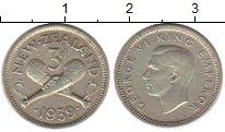Изображение Монеты Австралия и Океания Новая Зеландия 3 пенса 1939 Серебро XF