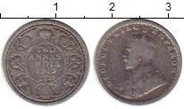 Изображение Монеты Азия Индия 2 анны 1913 Серебро VF
