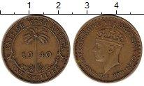 Изображение Монеты Западная Африка 1 шиллинг 1940 Латунь XF