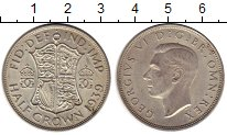 Изображение Монеты Великобритания 1/2 кроны 1939 Серебро XF Георг VI