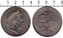 Изображение Монеты Олдерни 5 фунтов 2010 Медно-никель UNC- 25 лет Свадьбы принц
