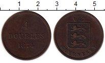 Изображение Монеты Великобритания Гернси 4 дубля 1874 Медь XF-