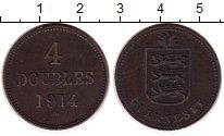 Изображение Монеты Великобритания Гернси 4 дубля 1914 Медь XF-