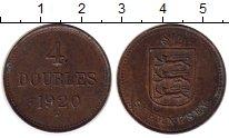 Изображение Монеты Великобритания Гернси 4 дубля 1920 Бронза XF