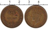 Изображение Монеты Великобритания Западная Африка 1 шиллинг 1947 Латунь XF