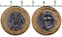 Изображение Монеты Бразилия 1 реал 2004 Биметалл UNC