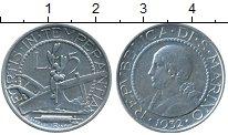 Изображение Монеты Европа Сан-Марино 5 лир 1932 Серебро VF