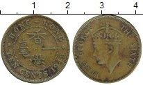 Изображение Монеты Гонконг 10 центов 1949 Латунь XF Георг VI
