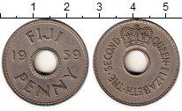Изображение Монеты Австралия и Океания Фиджи 1 пенни 1959 Медно-никель XF
