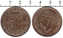 Изображение Монеты Африка Маврикий 1 рупия 1950 Медно-никель XF-