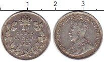 Изображение Монеты Северная Америка Канада 10 центов 1917 Серебро XF
