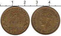 Изображение Монеты Западная Африка 1 шиллинг 1952 Латунь XF