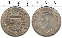 Изображение Монеты Новая Зеландия 1/2 кроны 1941 Серебро XF