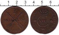 Изображение Монеты Швеция 1 скиллинг 1825 Медь XF- Карл XIV