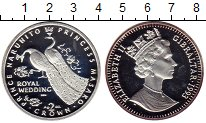 Изображение Монеты Гибралтар 2 кроны 1993 Серебро Proof- Елизавета II.  Импер