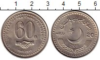 Изображение Монеты Азия Пакистан 20 рупий 2011 Медно-никель UNC