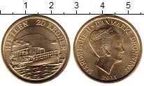 Изображение Мелочь Европа Дания 20 крон 2011 Латунь UNC
