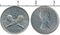 Изображение Монеты Новая Зеландия 3 пенса 1959 Медно-никель XF
