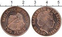 Изображение Монеты Остров Джерси 2 пенса 1998 Бронза UNC-