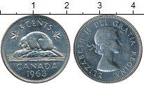 Изображение Монеты Северная Америка Канада 5 центов 1963 Медно-никель UNC-