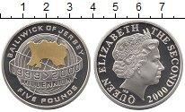Изображение Монеты Остров Джерси 5 фунтов 2000 Серебро Proof Миллениум