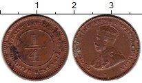 Изображение Монеты Стрейтс-Сеттльмент 1/4 цента 1916 Бронза XF+