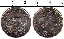 Изображение Монеты Остров Джерси 10 пенсов 2002 Медно-никель UNC-