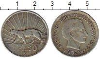 Изображение Монеты Уругвай 1 песо 1942 Серебро XF