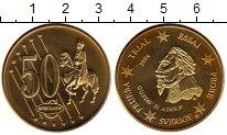 Изображение Монеты Швеция 50 евроцентов 2004 Латунь UNC