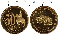 Изображение Монеты Европа Словения 50 евроцентов 2003 Латунь UNC