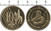 Изображение Монеты Норвегия 10 евроцентов 2005 Латунь UNC