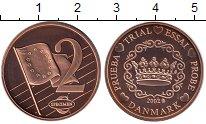 Изображение Монеты Европа Дания 2 евроцента 2002 Бронза UNC