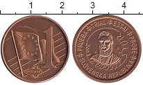 Изображение Монеты Европа Словакия 1 евроцент 2003 Бронза UNC