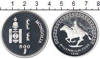 Изображение Монеты Азия Монголия 500 тугриков 1998 Серебро Proof