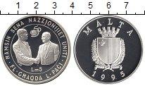 Изображение Монеты Мальта 5 лир 1995 Серебро Proof