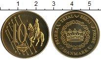 Изображение Монеты Европа Дания 10 евроцентов 2002 Латунь UNC