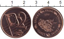 Изображение Монеты Остров Джерси 2 евроцента 2003 Бронза UNC UNUSUAL