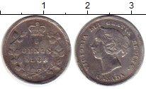 Изображение Монеты Северная Америка Канада 5 центов 1888 Серебро XF